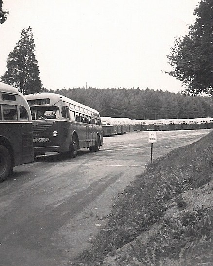 picture of early tour buses