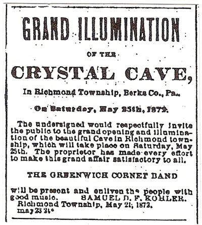 picture of the newspaper ad for the Grand Illumination